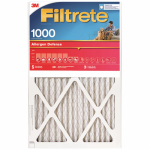 3M 9802-2PK-HDW Furnace Filter, Allergen Defense Red Micro or Micron or Microfiber Pleated, 20x20x1-In., 2-Pk., Must Purchase in Quantities of 3