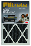 3M HOME00-4 Filtrete Odor Reduction Furnace Filter, 16x20x1-In., Must Purchase in Quantities of 4
