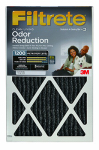 3M HOME01-4 Filtrete Odor Reduction Furnace Filter, 16x25x1-In., Must Purchase in Quantities of 4