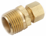 Anderson Metals 710068-0404 1/4CMPx1/4MPT Connector