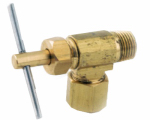 Anderson Metals 719103-0402 Needle Valve, 90-Degree, 1/4-In. Compression x 1/8-In. MIP