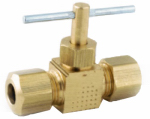 Anderson Metals 719106-04 Needle Valve, Compression, 1/4 x 1/4-In.