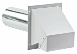 Lambro Industries 370 Dryer Vent Hood, Heavy Duty, Galvanized, 4-In. Painted