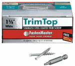 Omg FMTT158-75WH Trim Top Deck Screws, White Head, Stainless Steel, 1-5/8-In., 75-Ct.