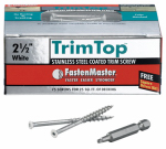 Omg FMTT212-75WH Trim Top Deck Screws, White Head, Stainless Steel, 2.5-In., 75-Ct.