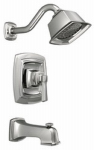 Moen/Faucets 82830EP Boardwalk Collection Single-Handle Tub / Shower Faucet + Showerhead, Chrome