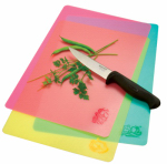 Norpro 39 Cut & Slice Cutting Board, Food Icons, Set of 3