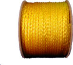Wellington Cordage 10841 Monofilament Polypropylene Rope, Yellow, 0.375-In. x 500-Ft.