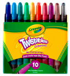 Crayola 52-9715 10CT Twistable Crayons