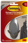 3M 17087G Double Hook, Graphite, Medium, 1-Pk.