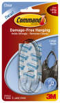 3M 17093CLR Hook, Clear, Large, 1-Pk.