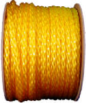 Wellington Cordage 10859 Monofilament Polypropylene Rope, Yellow, 0.5-In. x 250-Ft.