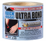 Cofair Products UBB425 Ultra Bond Roof Repair, Self-Adhesive, Black, 4-In. x 25-Ft.