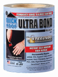 Cofair Products UBB625 Ultra Bond Roof Repair, Self-Adhesive, Black, 6-In. x 25-Ft.