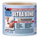 Cofair Products UBW410 Ultra Bond Roof Repair, Self-Adhesive, White, 4-In. x 10-Ft.