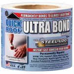 Cofair Products UBW425 Ultra Bond Roof Repair, Self-Adhesive, White, 4-In. x 25-Ft.