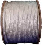 Wellington Cordage 10131 Nylon Cord, White Solid Braided, 1/4-In. x 1000-Ft.