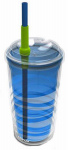Lifetime Brands 2510-2139 Lock & Roll Tumbler, Blue, 16-oz.