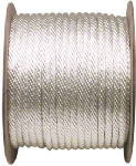 Wellington Cordage 10186 1/2-Inch x 250-Ft. White Solid Braided Nylon Cord