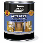 Deft 25804 Polyurethane, Semi-Gloss, Interior & Exterior, Water-Base, 1-Qt.