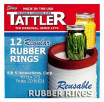 Tattler Home Products 1011 Jar Rubber Rings, Regular, 12-Pc.