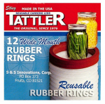 Tattler Home Products 1021 Jar Rubber Rings, Wide Mouth, 12-Pc.