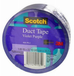 3M 920-PPL-C Duct Tape, Purple, 1.88-In. x 20-Yds.