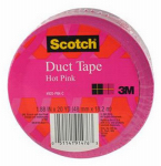 3M 920-PNK-C Duct Tape, Pink, 1.88-In. x 20-Yds.