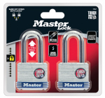 Master Lock 1TLF Laminated Padlock, 1.5-In. Shackle, 2-Pk.