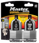 Master Lock M5XTLFCCSEN Laminated Padlock, 2-In. x 1.5-In. Shackle, 2-Pk.