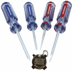 Pratt-Read 167487 Screwdriver Set, Slotted & Phillips, 5-Pc.