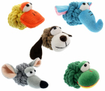 "Multipet International 29027 4"" Rope Head Dog Toy"