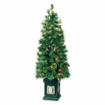 Equinox 2 CPEV-817-40LW4 Artificial Pre-Lit Potted Tree, Evanston Pine, 4-Ft.