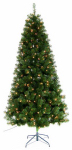 Equinox 2 YD-213-65 Artificial Pre-Lit Christmas Tree, Yardley Fir, 250 Clear Lights, 6.5-Ft.
