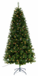 Equinox 2 YD-223-65 Artificial Pre-Lit Christmas Tree, Yardley Fir, 250 Multi Lights, 6.5-Ft.