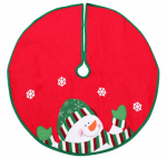Dyno Seasonal Solutions 2243649-3CC Christmas Tree Skirt, Mini, Snowman, Red & Green Felt, 24-In.