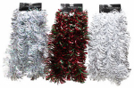 Dyno Seasonal Solutions 139012-5006CC Flipped-Out Tinsel Garland, Assorted, 12-Ft.