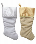 Dyno Seasonal Solutions 1196657CC Christmas Stocking, Satin, Assorted, 19-In.