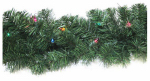 Noma/Inliten-Import 60088-88 LED Ludwig Artificial Christmas Garland, Color-Changing, Battery-Operated, 10-In. x 9-Ft.