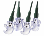 Noma/Inliten-Import V31348 LED Halloween String Lights, White Ghost, Indoor/Outdoor, 20-Ct.