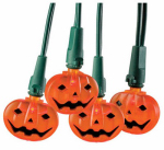 Noma/Inliten-Import V31353 LED Halloween String Lights, Orange Pumpkin, Indoor/Outdoor, 20-Ct.