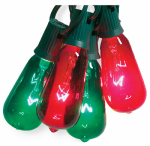 Noma/Inliten-Import V51597 Christmas String Light Set, Edison Bulb, Green & Red, 10-Ct.