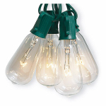 Noma/Inliten-Import V51587 Christmas String Light Set, Edison Bulb, Clear, 10-Ct.