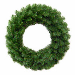 "General Foam Plastics TS-W24600 24""GRN Unlit Art Wreath"