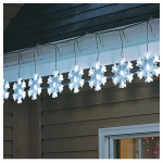 Noma/Inliten-Import V79178 LED Christmas String Light Set, Snowflake, 8-Function, Cool White, 10-Ct.
