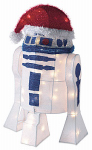Kurt S Adler SW9133 Christmas Decoration, 3-D Lighted Star Wars R2D2, 28-In.