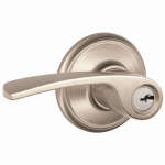 Schlage Lock F51VMER619 Merano  Entry Lock, Satin Nickel