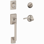 Schlage Lock F60VCENXMER619 Century Handleset, Single Cylinder, Satin Nickel