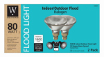 G E Lighting 63203 Flood Light Bulb, Halogen, Indoor/Outdoor, Par 38, 80-Watt, 2-Pk.
