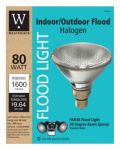 G E Lighting 63204 Flood Light Bulb, Halogen, Indoor/Outdoor, Par 38, 90-Watt